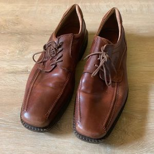 Ecco Men's Size 47 13 Brown Oxfords Lace Up Shoes